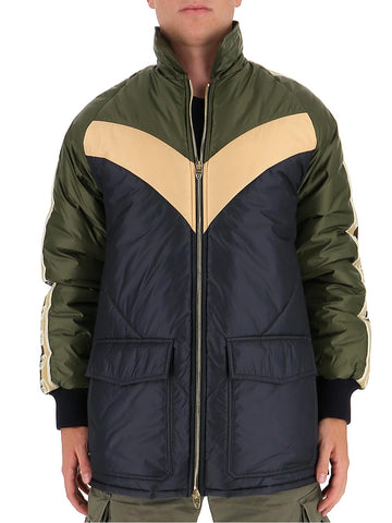 Gucci Contrasting Panelled Down Coat