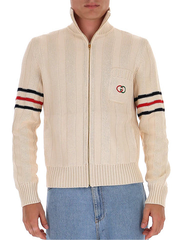 Guccci Interlocking G Knit Zipped Sweater