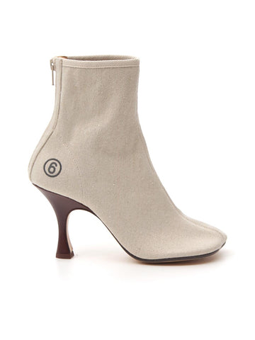 MM6 Maison Margiela Logo Anatomic Ankle Boots