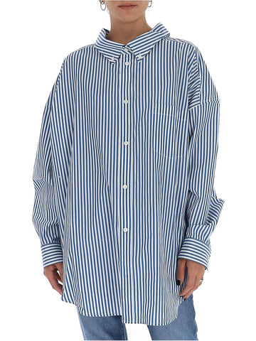 Balenciaga Striped Logo Back Shirt