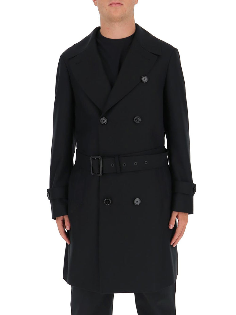 Dolce & Gabbana Midi Trench Coat In Black