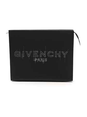 Givenchy Logo Printed Clutch Bag