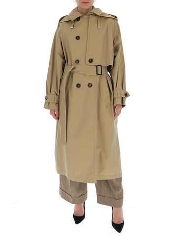 Max Mara The Cube Double Breasted Belted Coat