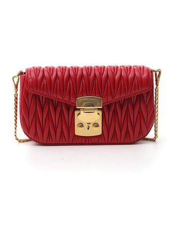 Miu Miu City Matelassé Crossbody Bag