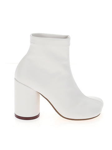 MM6 Maison Margiela Square Toe Ankle Boots