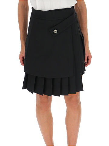 Off-White Pleated Mini Skirt