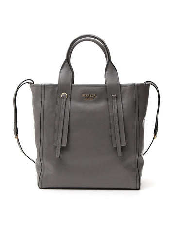 Prada Logo Handle Detailed Tote Bag