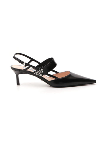 Prada Slingback Pointed-Toe Pumps