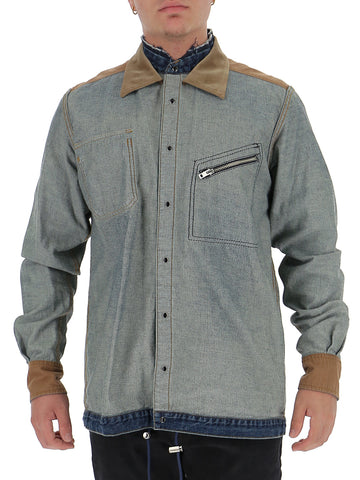 Sacai Contrast Panel Denim Shirt
