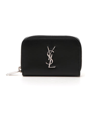 Saint Laurent Logo Plaque Zipped Purse