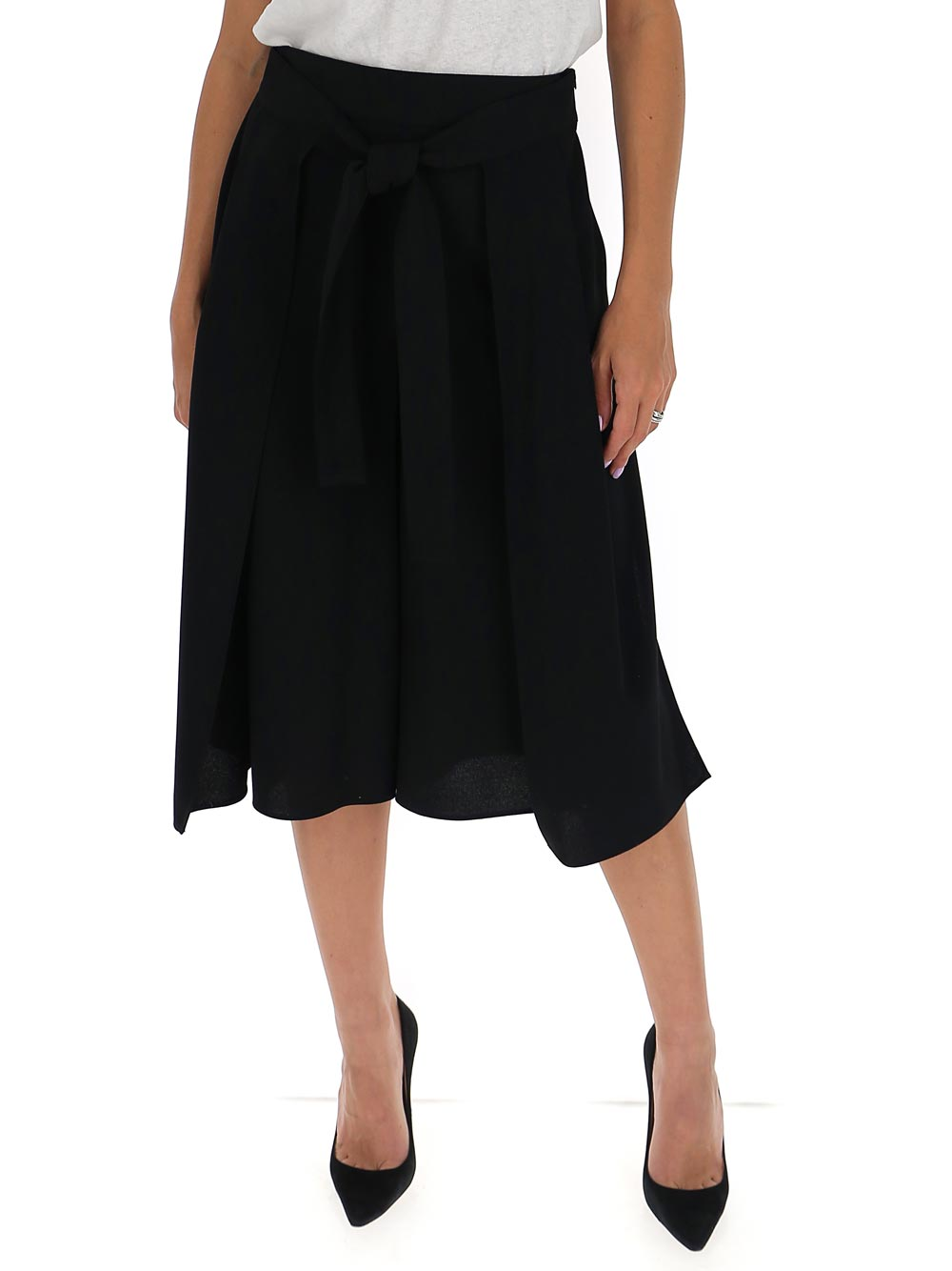 See By Chloé SEE BY CHLOÉ FRONT TIE WIDE LEG PANTS