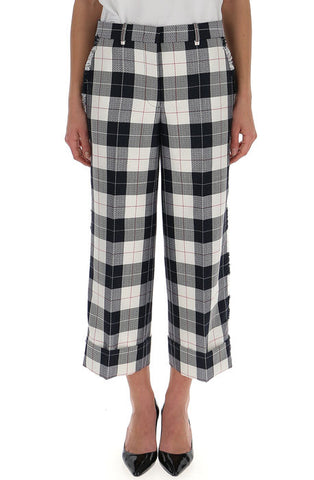 Thom Browne Checked Crop Trousers