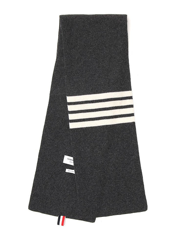 Thom Browne 4-Bar Knitted Scarf