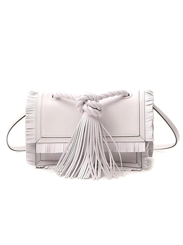 Valentino Fringe Trim Shoulder Bag
