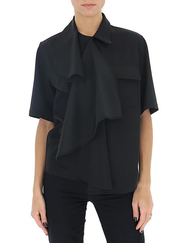 Mm6 Maison Margiela Ruffle Shirt Top