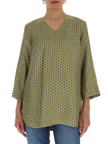 'S Max Mara Patterned V-Neck Top