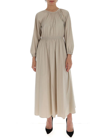 'S Max Mara Gathered Long Sleeve Dress