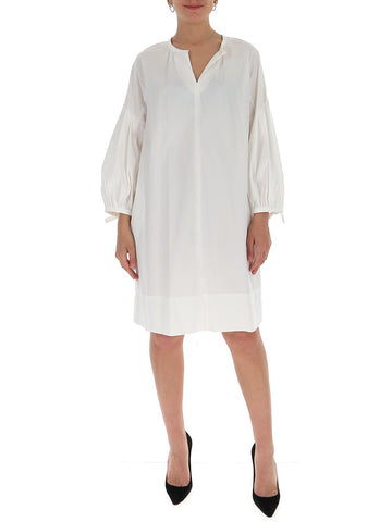 'S Max Mara Poplin Puff Sleeve Dress