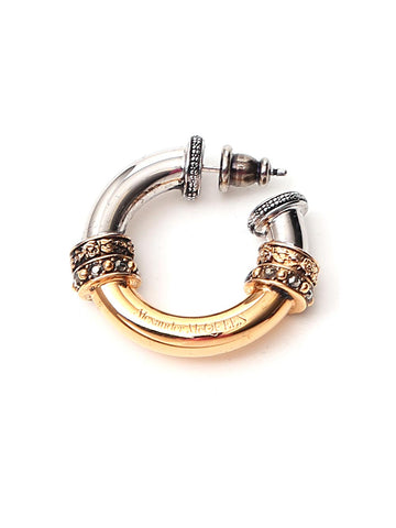 Alexander Mcqueen Contrasting Embellished Hoop Earrings
