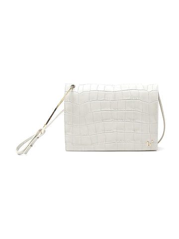 L'Autre Chose Embossed Foldover Crossbody Bag