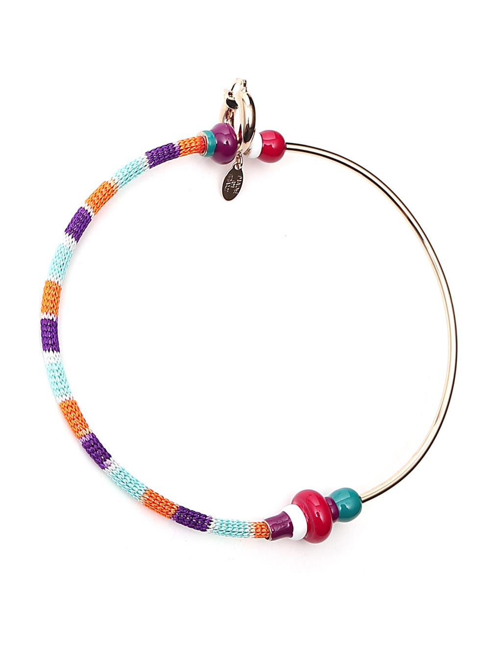 Missoni MISSONI WOVEN HOOP EARRINGS