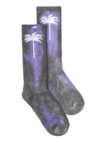 Palm Angels Tie Dye Palm Socks