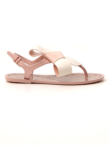 Red Valentino Bow Detail Flat Sandals