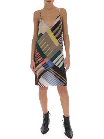 Rick Owens Printed Slip Dress