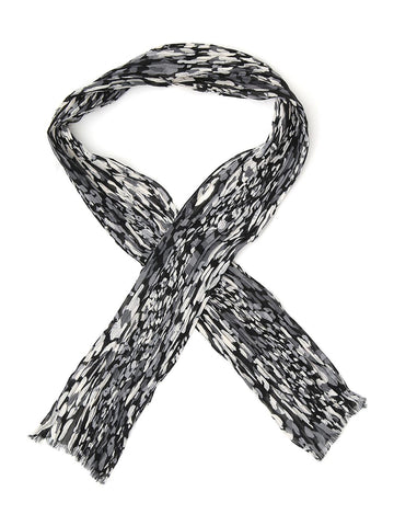 Saint Laurent Abstract Detail Scarf