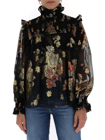 Saint Laurent Floral Print Blouse