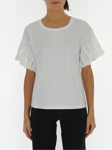 See By Chloé Ruffle-Sleeve T-Shirt