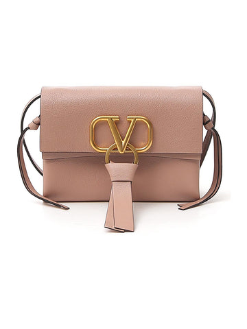 Valentino Logo Foldover Shoulder Bag
