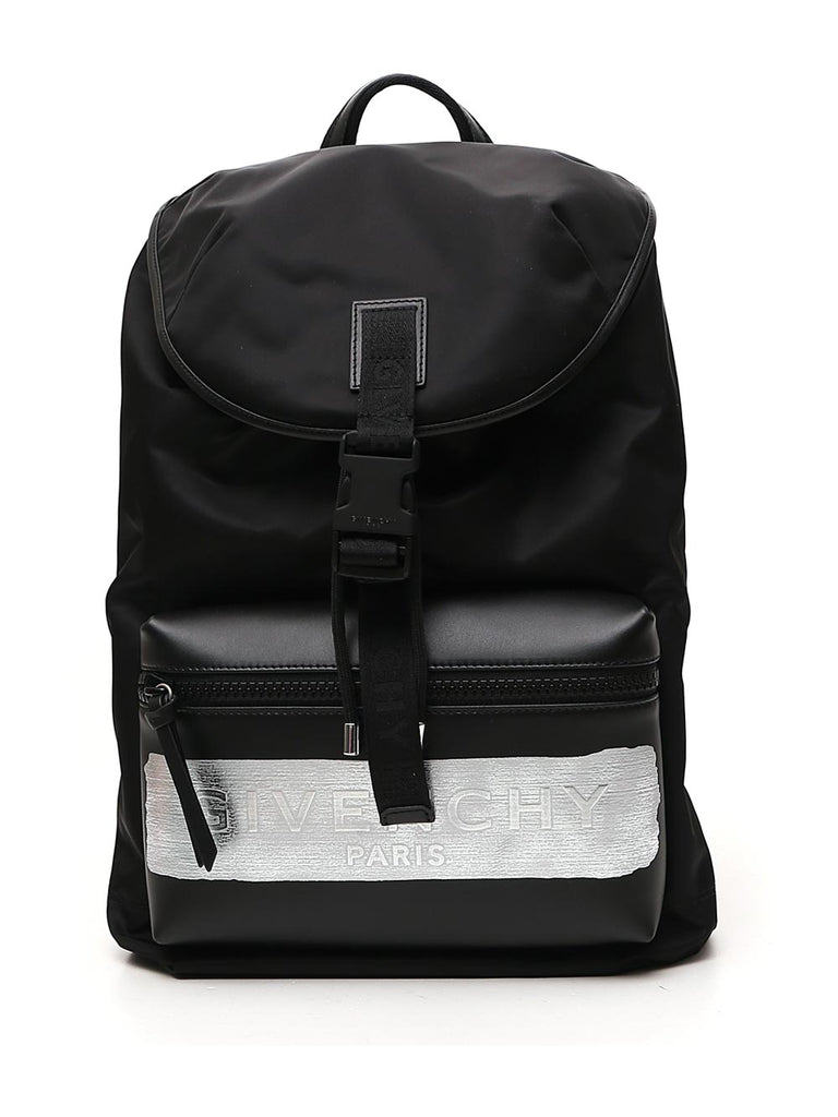 Givenchy Logo Band Backpack In Black