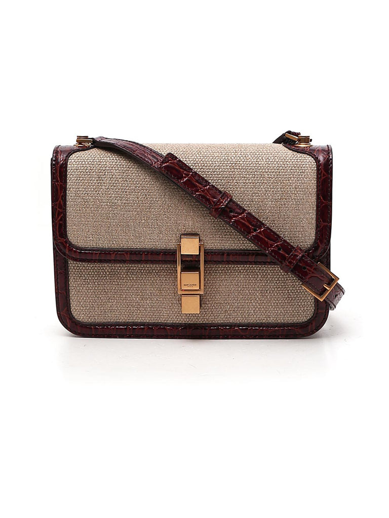 Saint Laurent Carre Satchel In Beige
