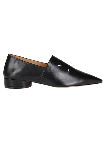 Maison Margiela 4-Stitch Pointd-Toe Loafers