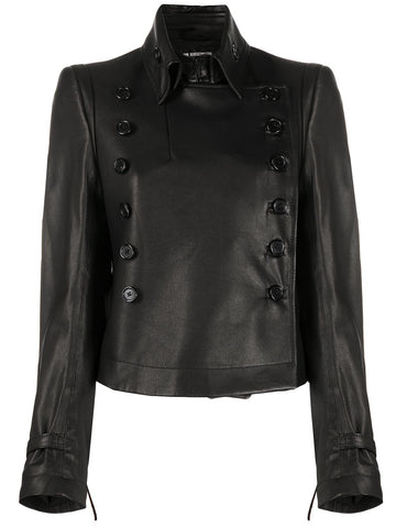Ann Demeulemeester Buttoned Leather Jacket