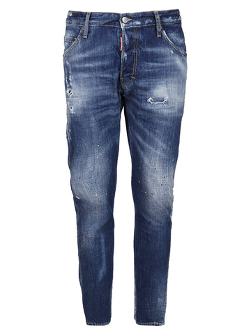 Dsquared2 Stained Effect Straight Fit Jeans