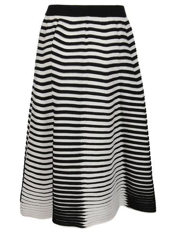 Issey Miyake Striped Knitted Skirt