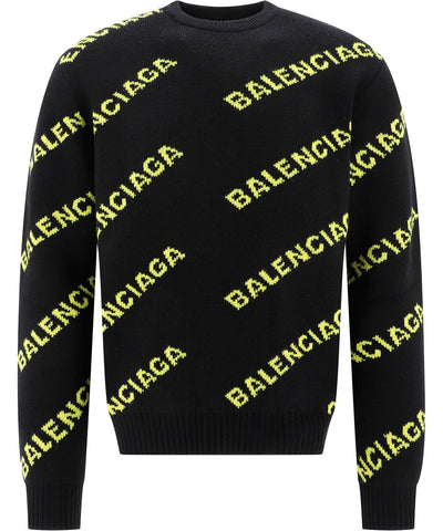 Balenciaga All Over Logo Pullover