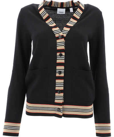 Burberry Stripe Detail Cardigan
