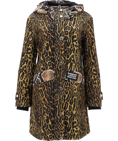 Burberry Animal Print Raincoat