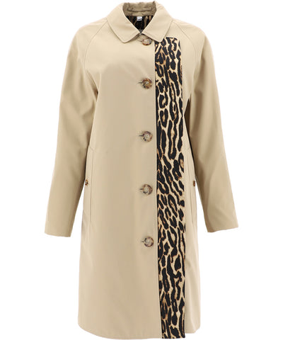 Burberry Leopard Printed Car Coat