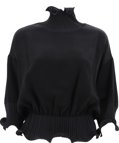Givenchy Frilled High Neck Sheer Blouse