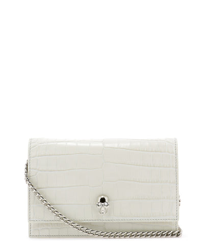 Alexander McQueen Embossed Skull Detail Crossbody Bag