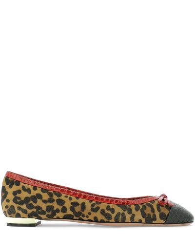 Aquazzura Animalier Printed Ballerinas