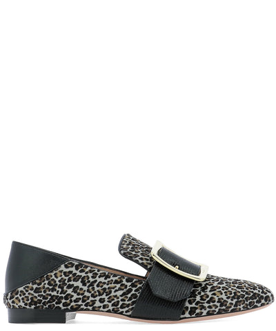 Bally Buckled Animalier Printed Loafers