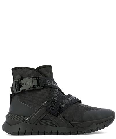 Balmain B Troop Logo Strapped Sneakers