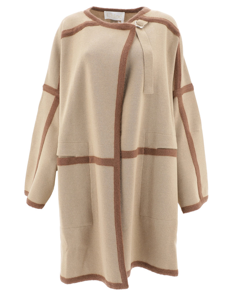 Chloé Oversized Contrast Trimmed Coat