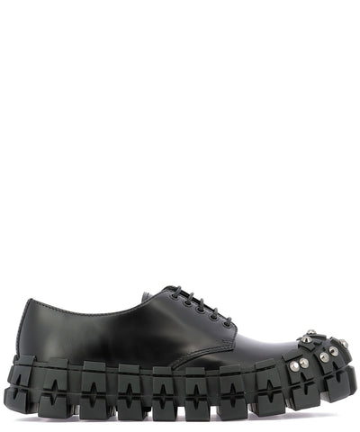 Prada Studded Chunky Sole Lace-Up Shoes
