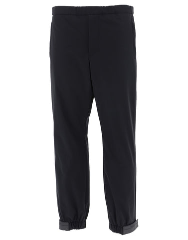 Prada Logo Cuffed Trousers